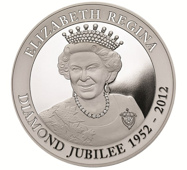 silver diamond jubilee coin