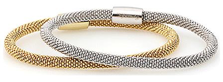 stylish silver mesh bracelets