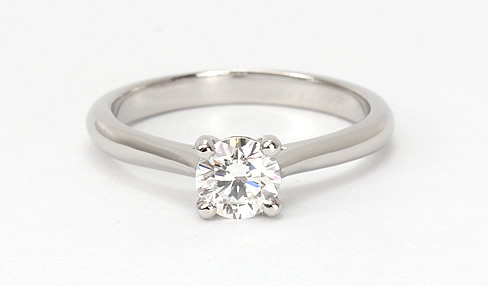 solitaire diamond engagement ring 18ct white gold