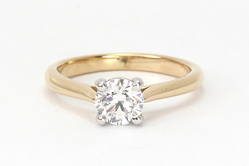 solitaire diamond engagement ring 18ct yellow gold