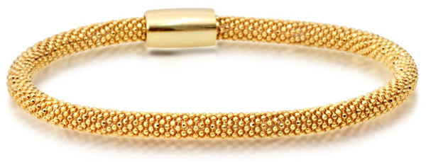 mesh yellow gold bracelet