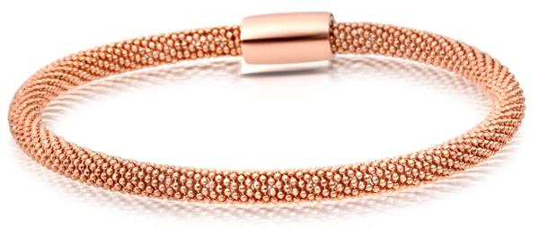 mesh rose gold bracelets