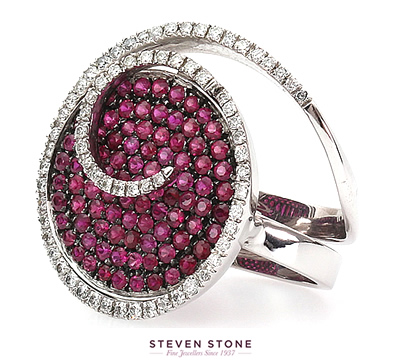 stunning diamond and ruby ring