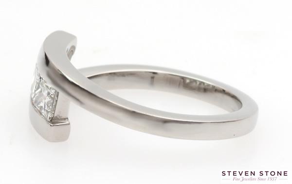 three stone princess cut diamond ring 2