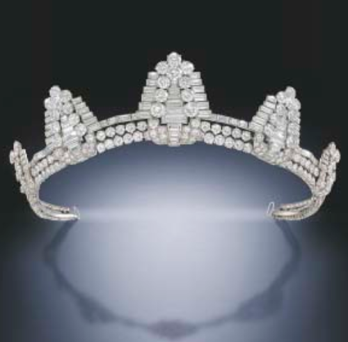 diamond tiara at christies auction house london