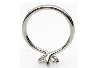 twist setting princess cut diamond engagement ring
