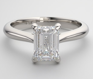 vintage emerald cut diamond solitaire engagement ring