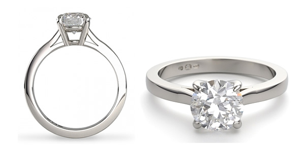 wedfit engagement ring with hight