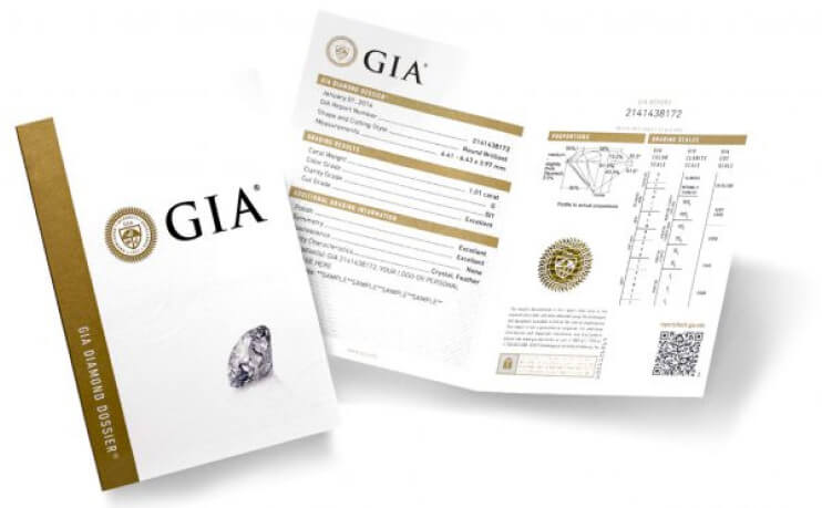 GIA Diamonds Certificates